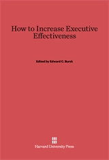 Cover: How to Increase Executive Effectiveness
