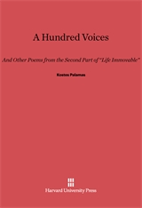 Cover: A Hundred Voices: And other Poems from the Second Part of