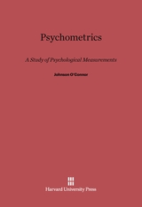 Cover: Psychometrics: A Study of Psychological Measurements