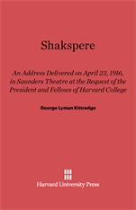 Cover: Shakespere: An Address