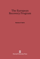 Cover: The European Recovery Program
