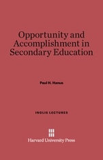 Cover: Opportunity and Accomplishment in Secondary Education