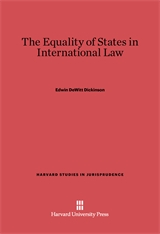 Cover: The Equality of the States in International Law