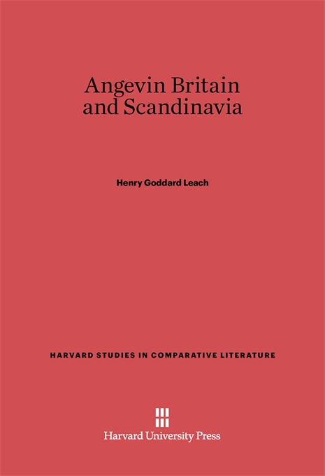 Cover: Angevin Britain and Scandinavia, from Harvard University Press