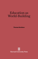 Cover: Education as World Building