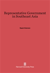 Cover: Representative Government in Southeast Asia