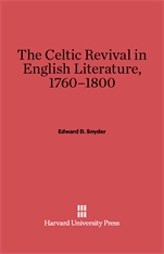 Cover: The Celtic Revival in English Literature, 1760-1800 in E-DITION