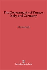 Cover: The Governments of France, Italy, and Germany