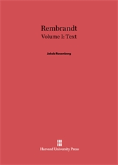 Cover: Rembrandt, Volume I: Text