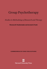 Cover: Group Psychotherapy: Studies in Methodology of Research and Therapy