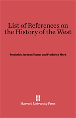 Cover: List of References on the History of the West in E-DITION
