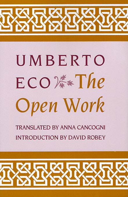 Cover: The Open Work, from Harvard University Press