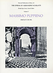Cover: The Operas of Alessandro Scarlatti, Volume V: Massimo Puppieno in PAPERBACK