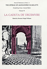 Cover: The Operas of Alessandro Scarlatti, Volume VI: La Caduta de' Decemviri in PAPERBACK