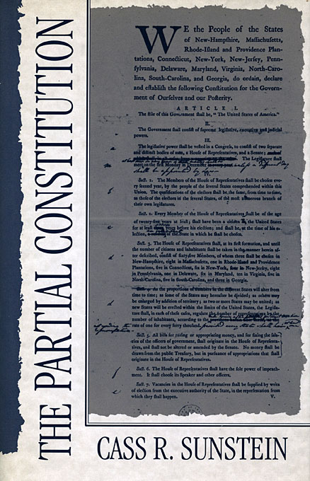 Cover: The Partial Constitution, from Harvard University Press
