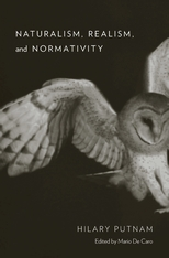 Cover: Naturalism, Realism, and Normativity, by Hilary Putnam, edited by Mario De Caro, from Harvard University Press