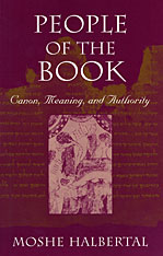 Cover: People of the Book: Canon, Meaning, and Authority