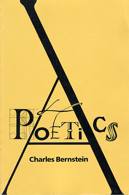 Cover: A Poetics, from Harvard University Press