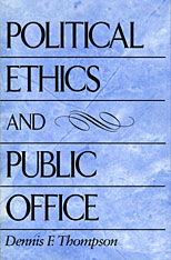 Cover: Political Ethics and Public Office