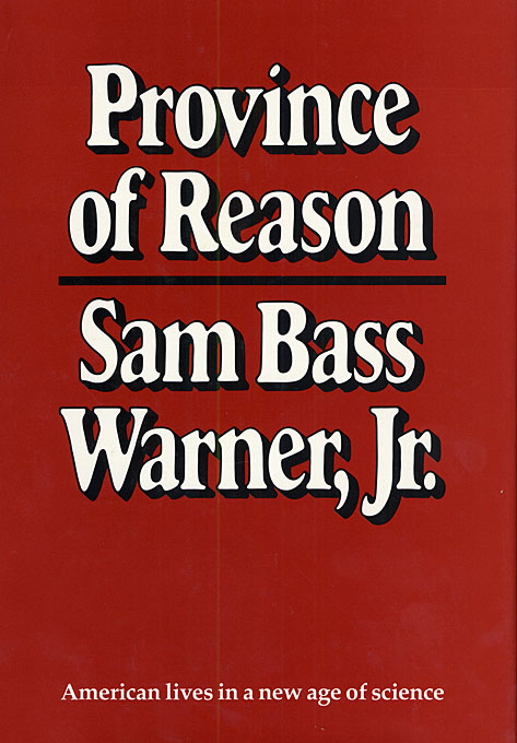 Cover: Province of Reason, from Harvard University Press