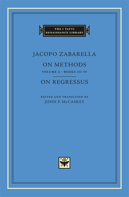 Cover: On Methods, Volume 2: Books III-IV. On Regressus, from Harvard University Press