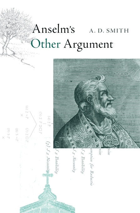 Cover: Anselm's Other Argument, from Harvard University Press
