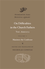 Cover: On Difficulties in the Church Fathers: The <i>Ambigua</i>, Volume I in HARDCOVER