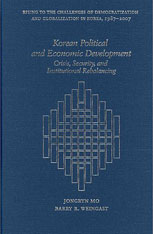 Cover: Korean Political and Economic Development in HARDCOVER