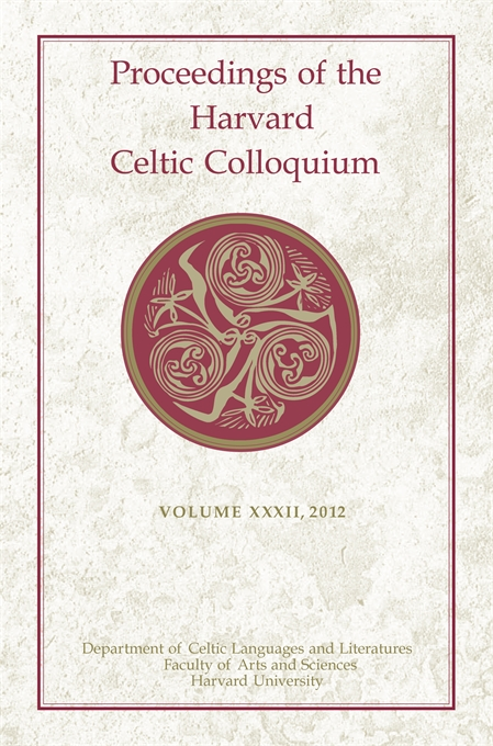 Cover: Proceedings of the Harvard Celtic Colloquium, 32: 2012, from Harvard University Press