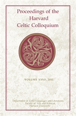 Cover: Proceedings of the Harvard Celtic Colloquium, 32: 2012 in HARDCOVER