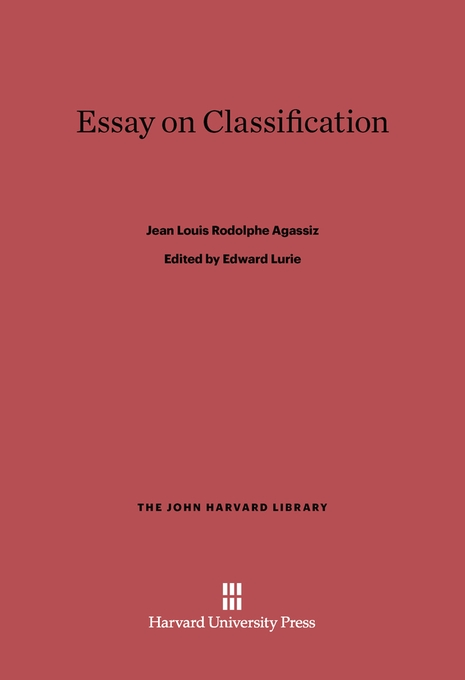 Cover: Essay on Classification, from Harvard University Press