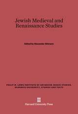 Cover: Jewish Medieval and Rennaissance Studies