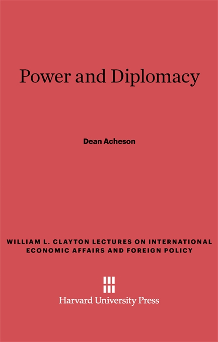 Cover: Power and Diplomacy, from Harvard University Press
