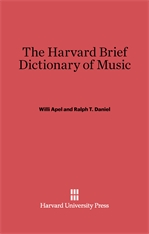 Cover: The Harvard Brief Dictionary of Music