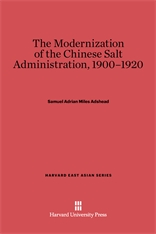 Cover: The Modernization of the Chinese Salt Administration