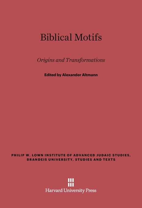 Cover: Biblical Motifs: Origins and Transformations, from Harvard University Press
