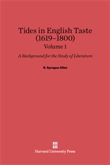Cover: Tides in English Taste (1619-1800): A Background for the Study of Literature, Volume 1