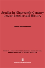 Cover: Studies in Nineteenth-Century Jewish Intellectual History