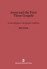 Cover: Jesus and the First Three Gospels: An Introduction to the Synoptic Tradition