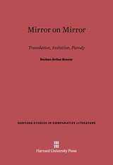 Cover: Mirror on Mirror: Translation, Imitation, Parody