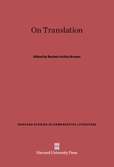 Cover: On Translation