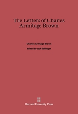 Cover: The Letters of Charles Armitage Brown
