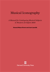 Cover: Musical Iconography: A Manual for Cataloguing Musical Subjects in Western Art before 1800