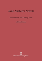 Cover: Jane Austen's Novels: Social Change and Literary Form