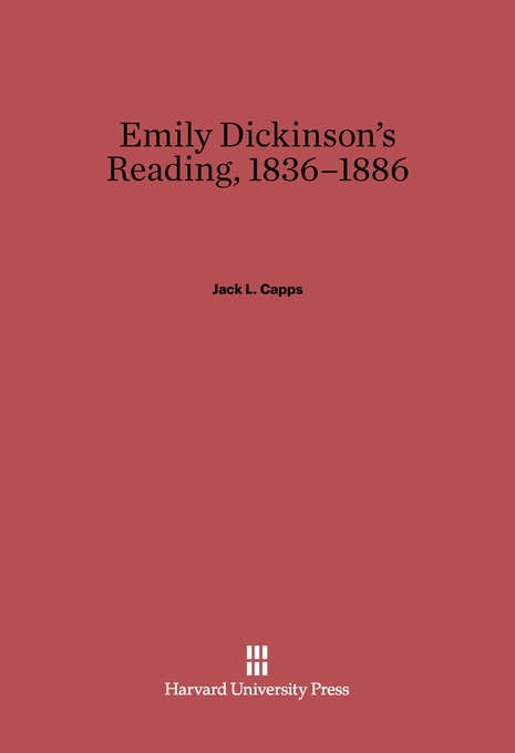 Cover: Emily Dickinson's Reading, 1836-1886, from Harvard University Press