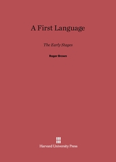 Cover: A First Language: The Early Stages