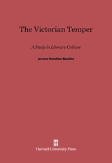 Cover: The Victorian Temper: A Study in Literary Culture