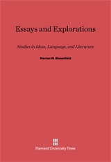 Cover: Essays and Explorations: Studies in Ideas, Language, and Literature