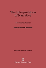 Cover: The Interpretation of Narrative: Theory and Practice