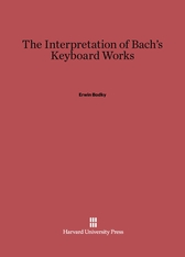 Cover: The Interpretation of Bach's Keyboard Works
